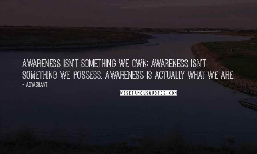 Adyashanti Quotes Awareness Isn60t Something We Own Awareness Simple Adyashanti Quotes