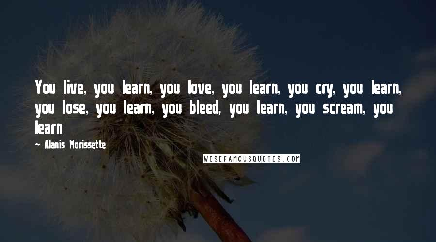 Alanis Morissette Quotes You Live You Learn You Love You Learn