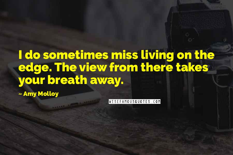 Amy Molloy Quotes: I do sometimes miss living on the edge. The view from there takes your breath away.