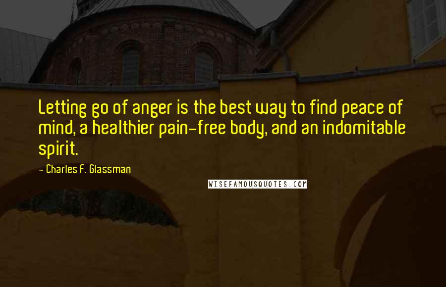 letting go of anger and pain