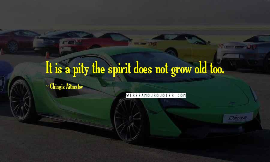 Chingiz Aitmatov Quotes: It is a pity the spirit does not grow old too.