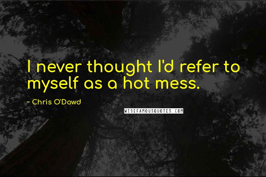 Chris O'Dowd Quotes: I never thought I'd refer to myself as a hot mess.