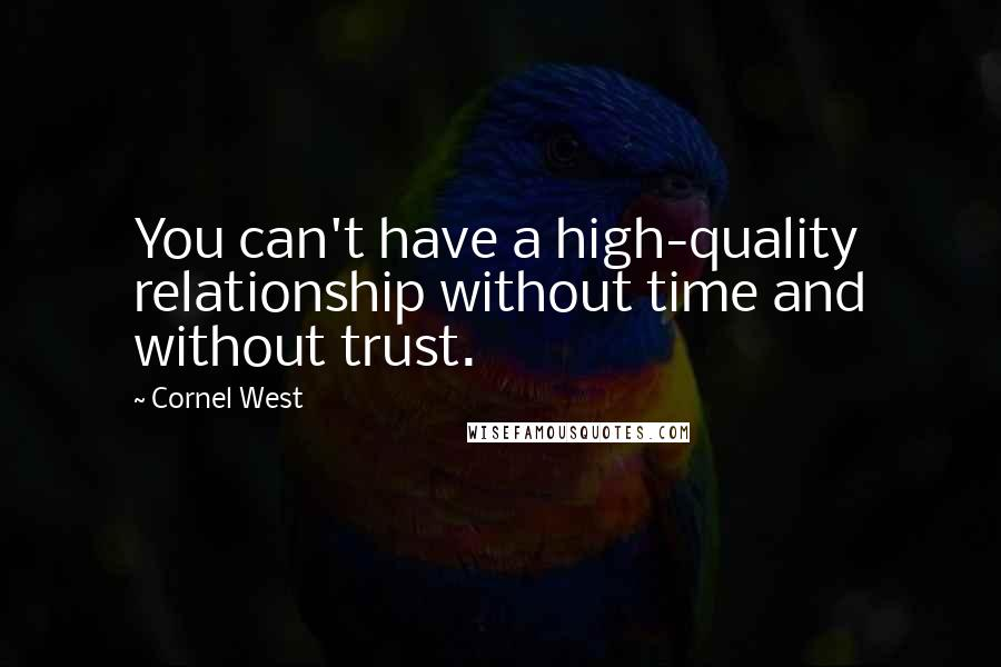 cornel west quotes you can t have a high quality