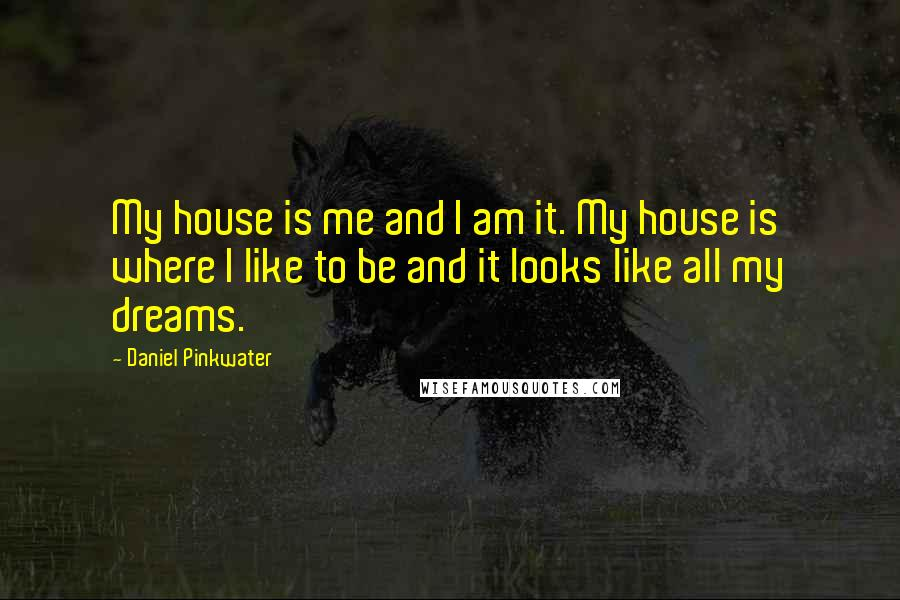 Daniel Pinkwater Quotes: My house is me and I am it. My house is where I like to be and it looks like all my dreams.
