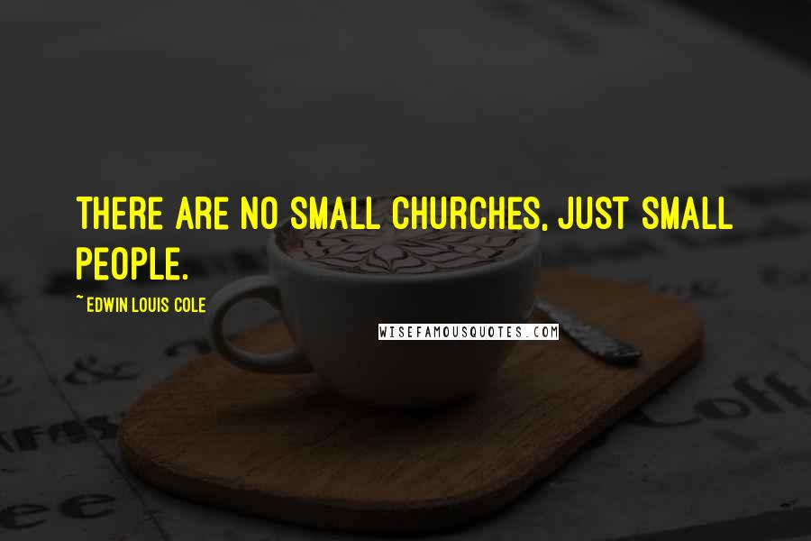 Edwin Louis Cole Quotes: There are no small churches, just small people.