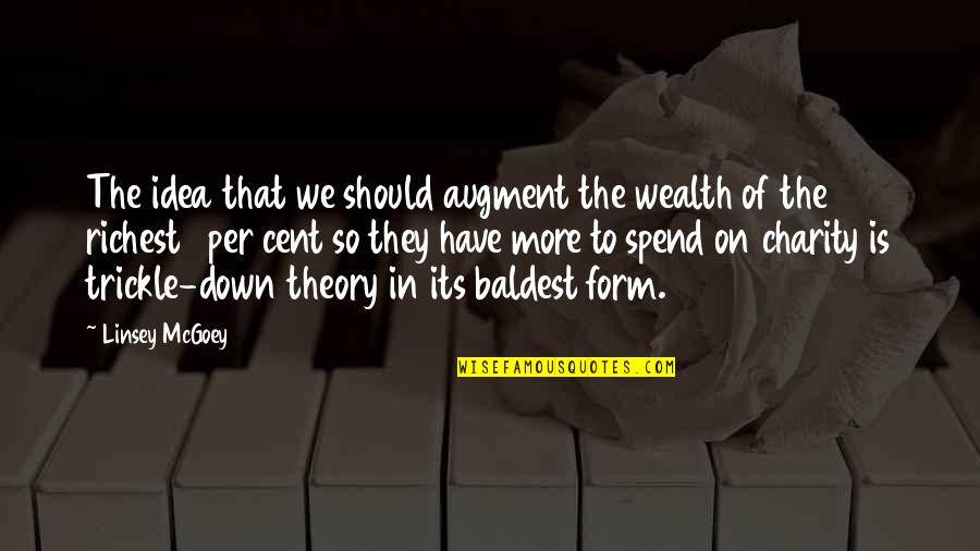 1-Jan Quotes By Linsey McGoey: The idea that we should augment the wealth