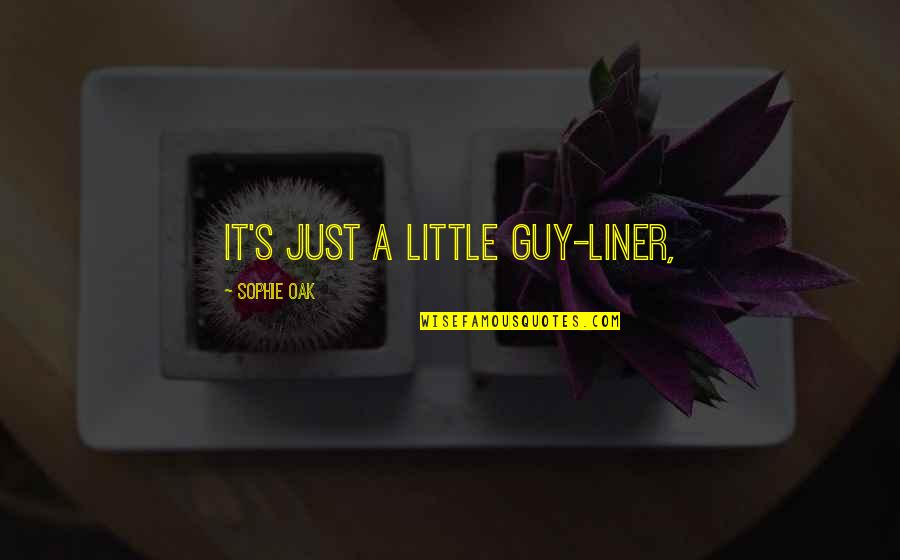 1 Liner Quotes By Sophie Oak: It's just a little guy-liner,