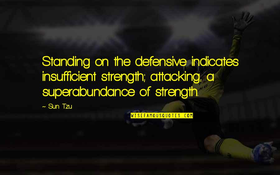 101 Dalmatian Quotes By Sun Tzu: Standing on the defensive indicates insufficient strength; attacking,
