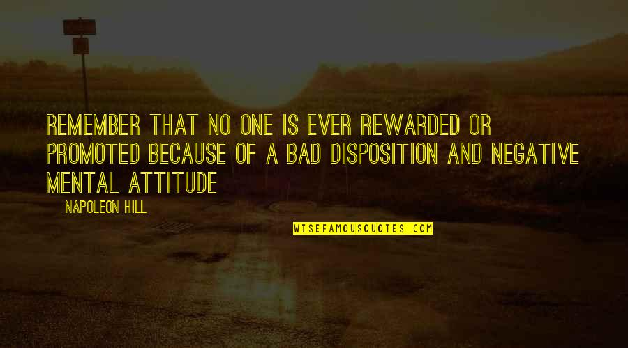 102 Birthday Quotes By Napoleon Hill: Remember that no one is ever rewarded or