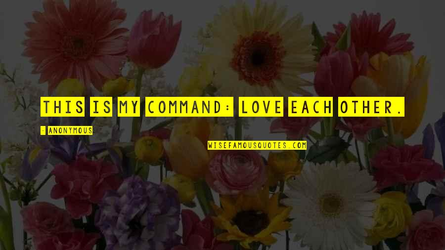 1984 Spies Quotes By Anonymous: This is my command: Love each other.