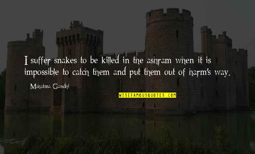 1984 Spies Quotes By Mahatma Gandhi: I suffer snakes to be killed in the