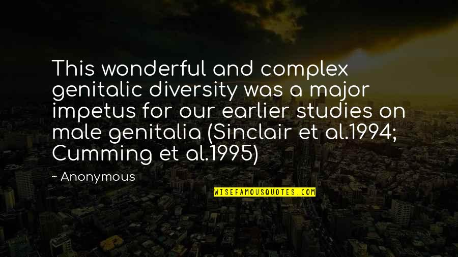1994 Quotes By Anonymous: This wonderful and complex genitalic diversity was a