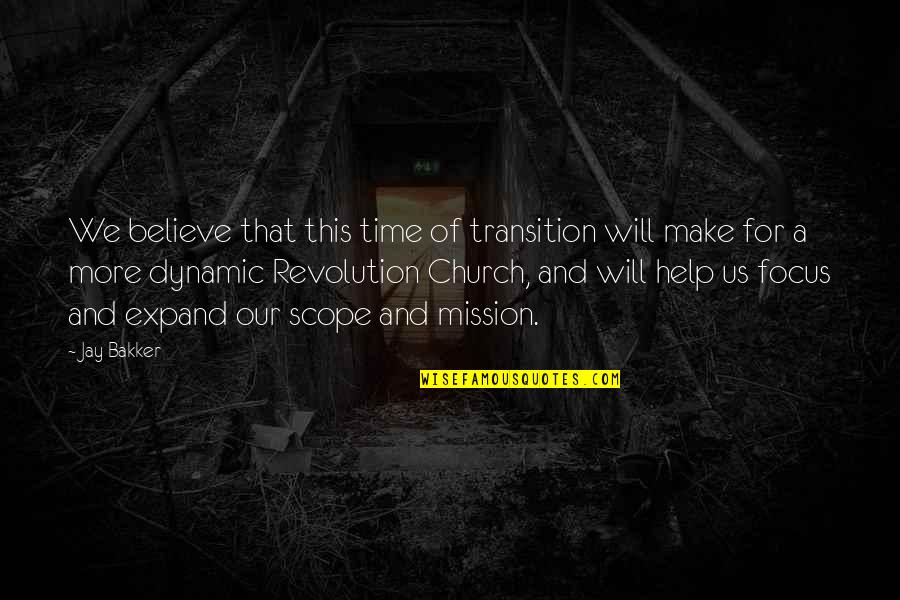 1st Day Of October Quotes By Jay Bakker: We believe that this time of transition will