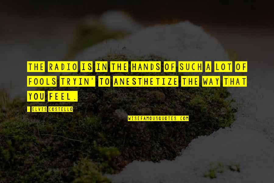 2 Way Radio Quotes By Elvis Costello: The radio is in the hands of such