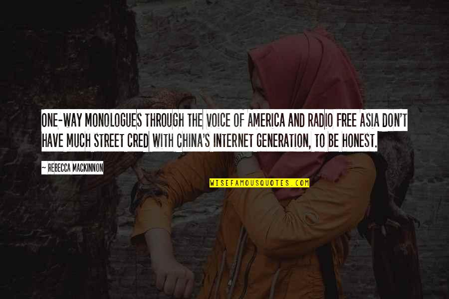 2 Way Radio Quotes By Rebecca MacKinnon: One-way monologues through the Voice of America and