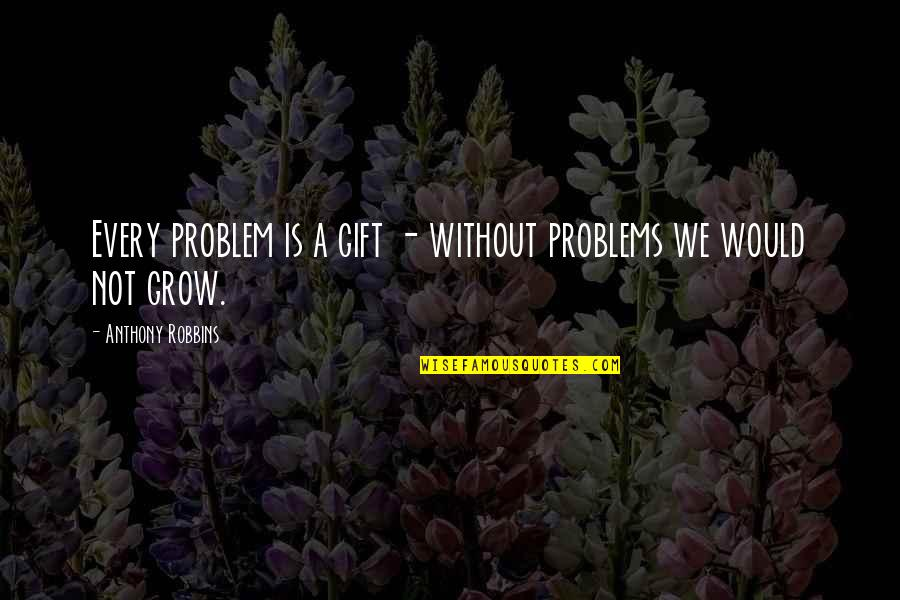 2 Year Old Invitation Quotes By Anthony Robbins: Every problem is a gift - without problems
