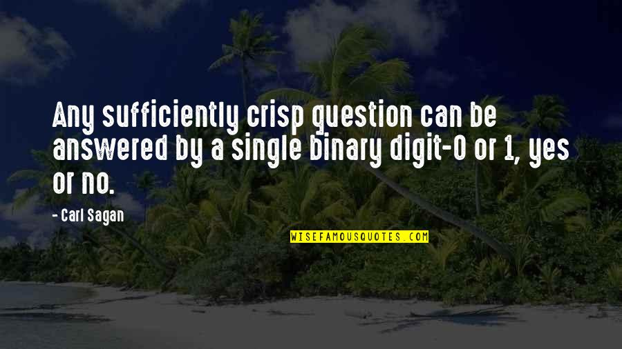 200 Islamic Quotes By Carl Sagan: Any sufficiently crisp question can be answered by
