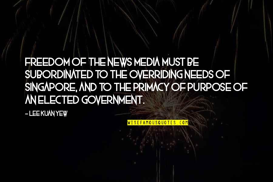 2005 Champions League Final Quotes By Lee Kuan Yew: Freedom of the news media must be subordinated