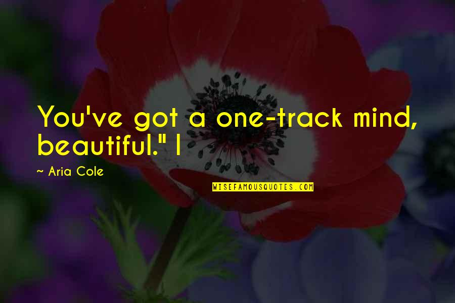 "222 Jump Street Quotes By Aria Cole: You've got a one-track mind, beautiful."" I"