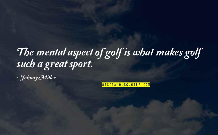 24 Hour Bookstore Quotes By Johnny Miller: The mental aspect of golf is what makes