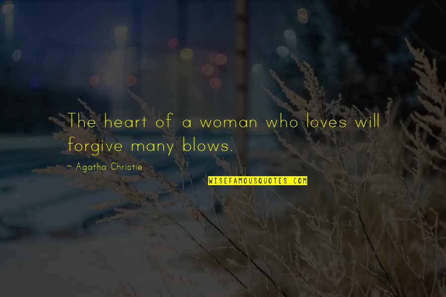 3 Loves Quotes By Agatha Christie: The heart of a woman who loves will