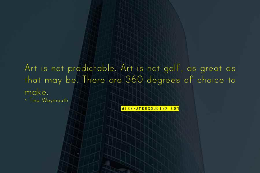 360*640 Quotes By Tina Weymouth: Art is not predictable. Art is not golf,