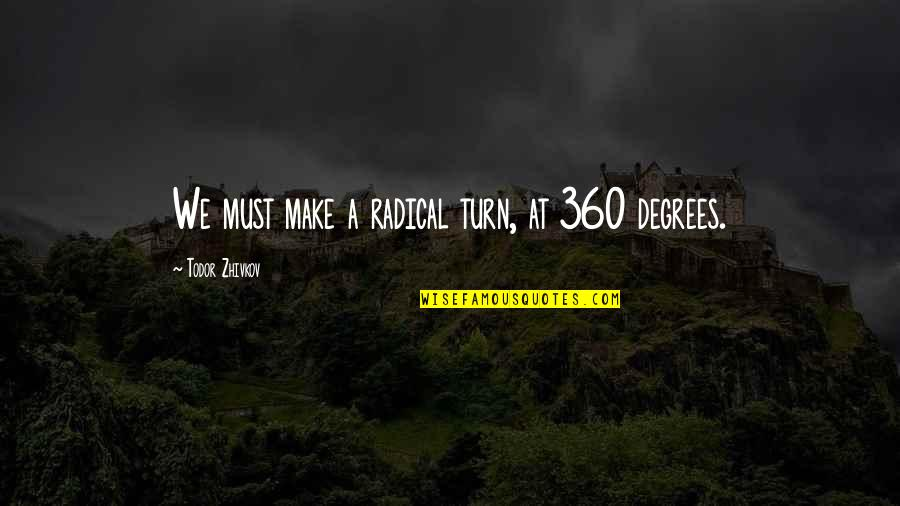 360*640 Quotes By Todor Zhivkov: We must make a radical turn, at 360