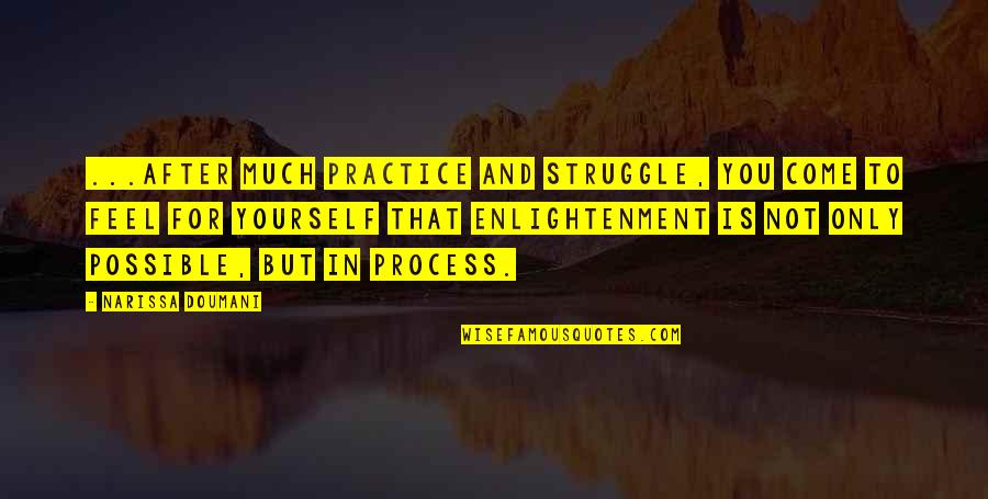 4th Grade School Quotes By Narissa Doumani: ...after much practice and struggle, you come to