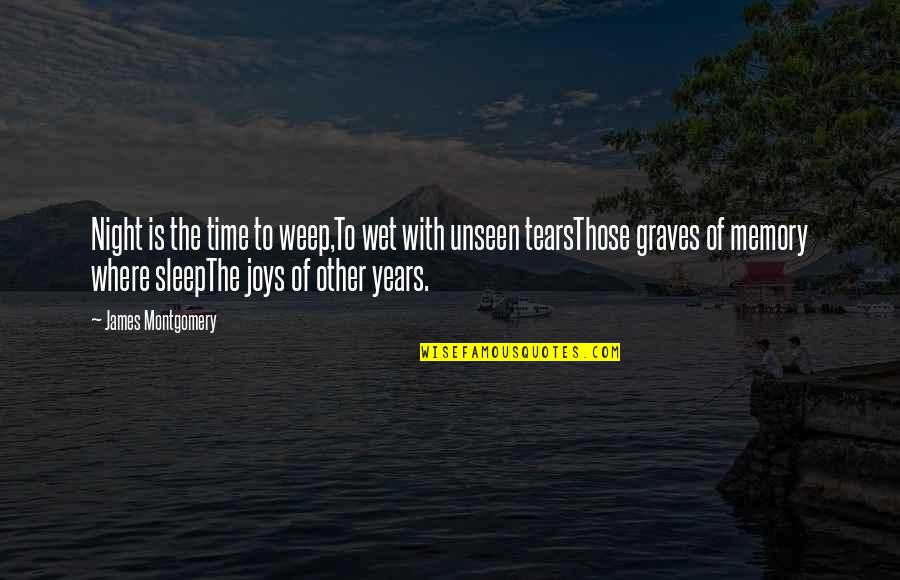 5s Wallpaper Quotes By James Montgomery: Night is the time to weep,To wet with
