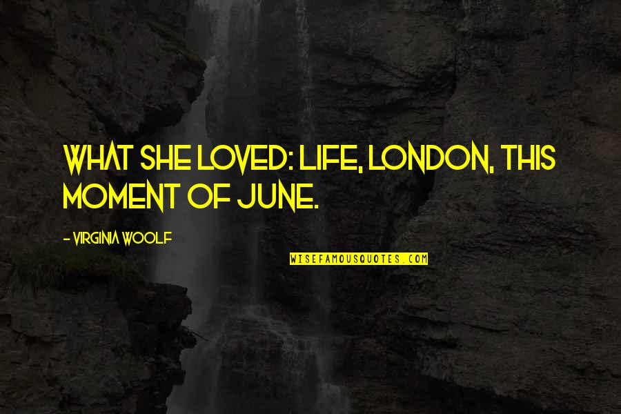 5s Wallpaper Quotes By Virginia Woolf: What she loved: life, London, this moment of