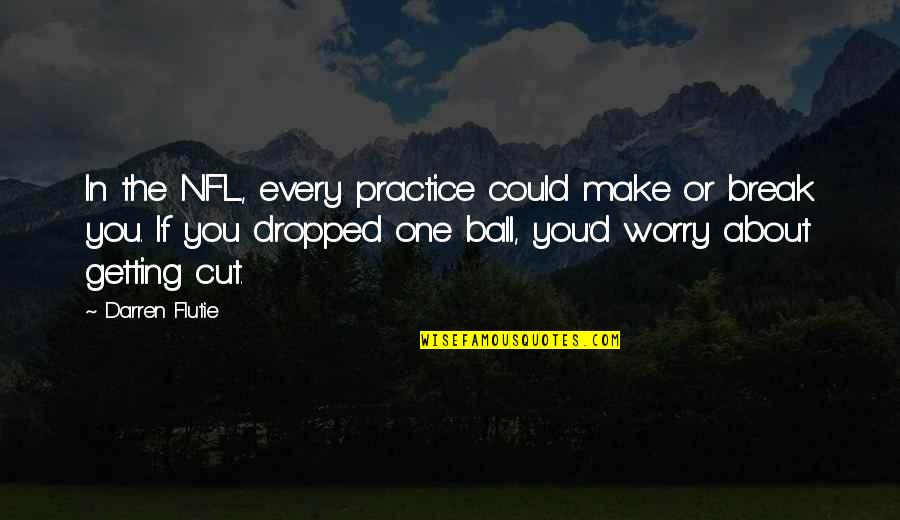 8 Ball Quotes By Darren Flutie: In the NFL, every practice could make or