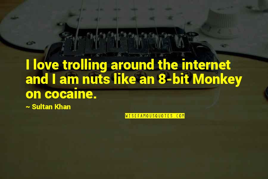 8 Bit Quotes By Sultan Khan: I love trolling around the internet and I