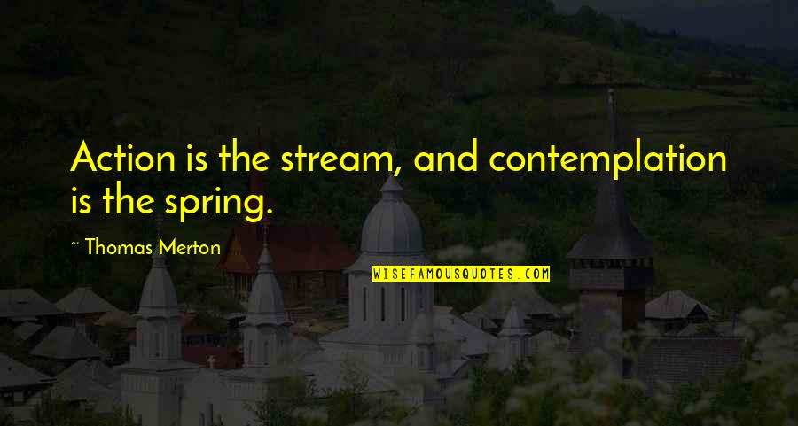 8th Grade Promotion Quotes By Thomas Merton: Action is the stream, and contemplation is the