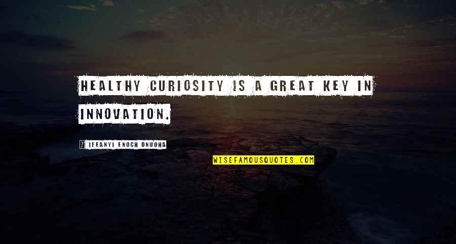 9/11 Goodreads Quotes By Ifeanyi Enoch Onuoha: Healthy curiosity is a great key in innovation.