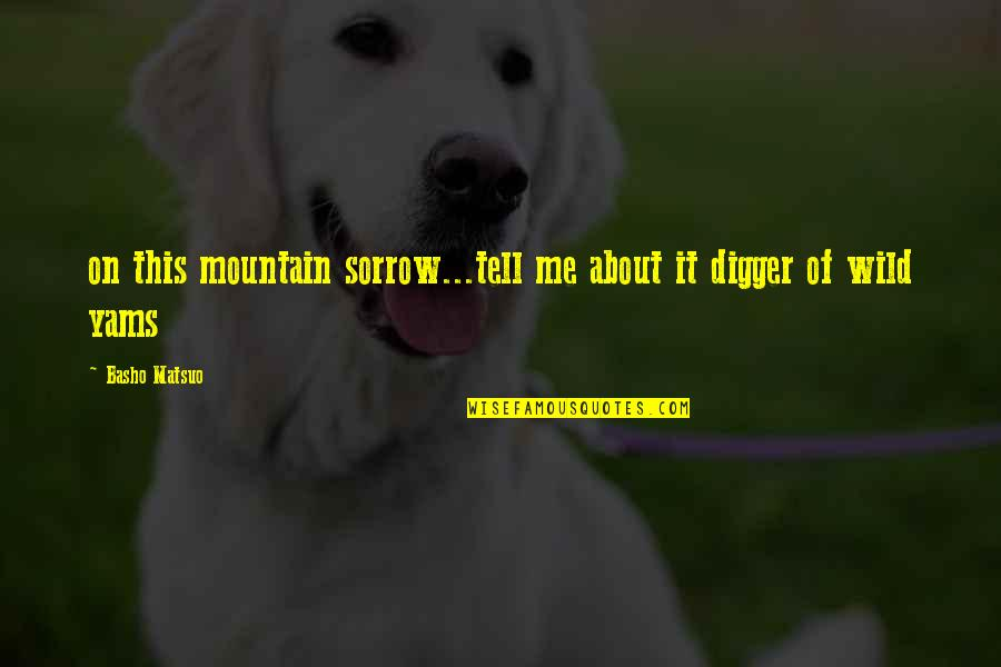A$ap Yams Quotes By Basho Matsuo: on this mountain sorrow...tell me about it digger