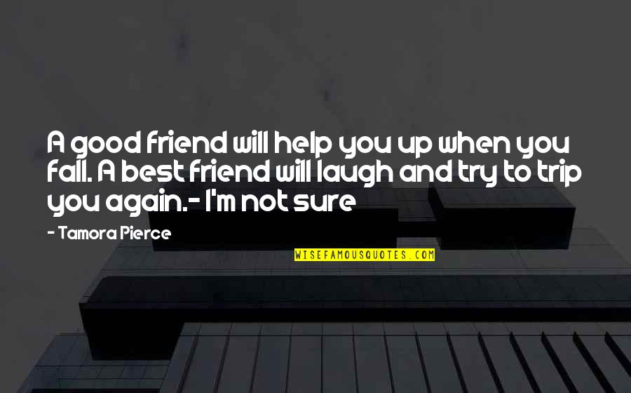 A Best Friend Quotes By Tamora Pierce: A good friend will help you up when