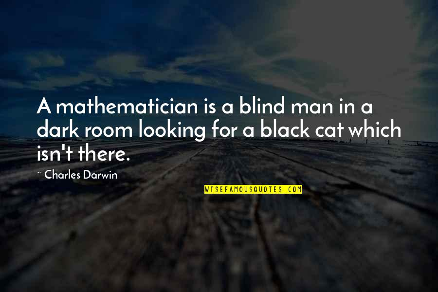 A Black Man Quotes By Charles Darwin: A mathematician is a blind man in a