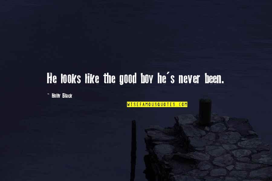 A Boy U Like Quotes By Holly Black: He looks like the good boy he's never