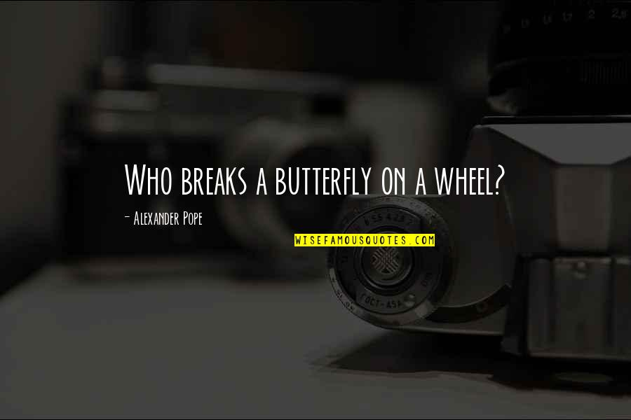 A Butterfly Quotes By Alexander Pope: Who breaks a butterfly on a wheel?