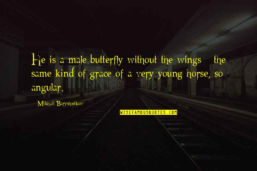 A Butterfly Quotes By Mikhail Baryshnikov: He is a male butterfly without the wings