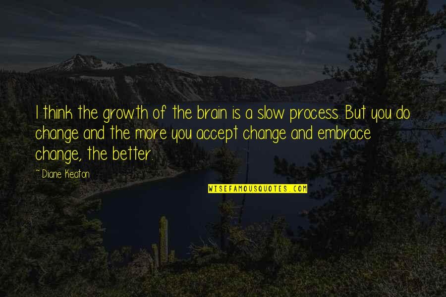 A Change Quotes By Diane Keaton: I think the growth of the brain is
