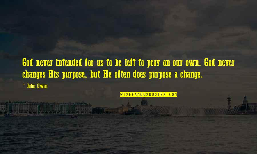 A Change Quotes By John Owen: God never intended for us to be left