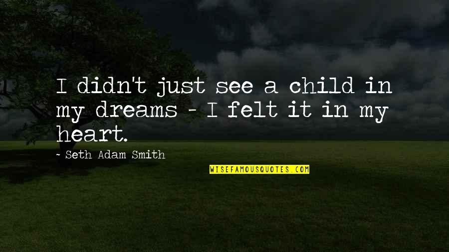 A Child Love For Their Parents Quotes By Seth Adam Smith: I didn't just see a child in my