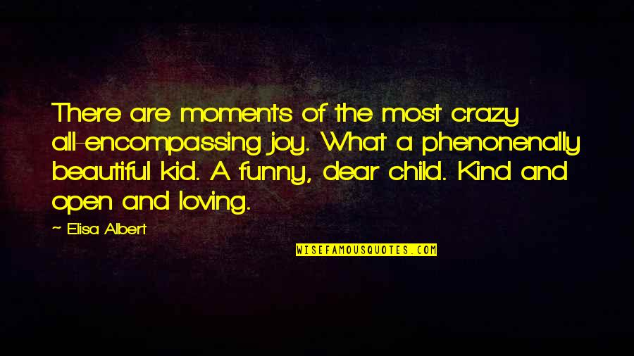 A Child's Joy Quotes By Elisa Albert: There are moments of the most crazy all-encompassing