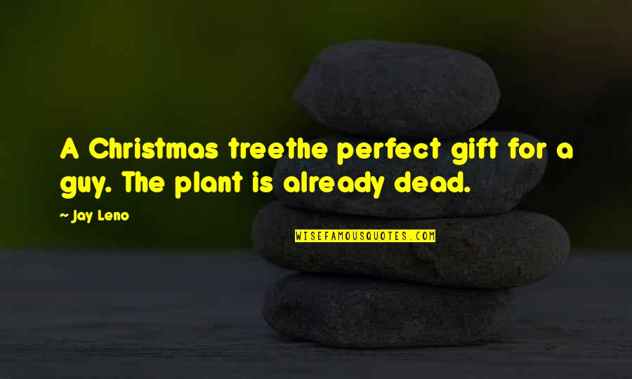 A Christmas Tree Quotes By Jay Leno: A Christmas treethe perfect gift for a guy.