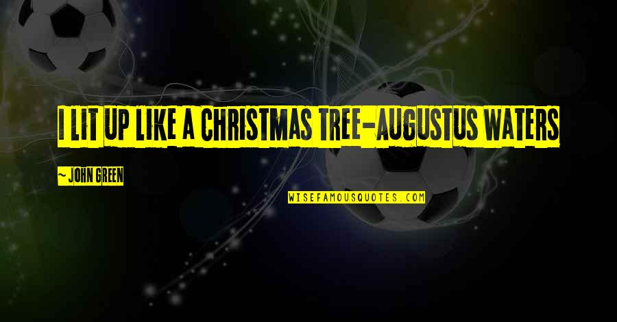 A Christmas Tree Quotes By John Green: I lit up like a Christmas tree-Augustus Waters