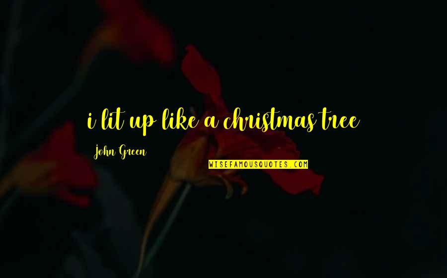 A Christmas Tree Quotes By John Green: i lit up like a christmas tree