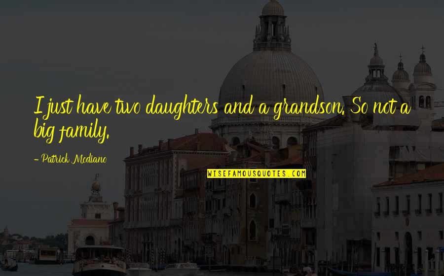 A Daughter Quotes By Patrick Modiano: I just have two daughters and a grandson.
