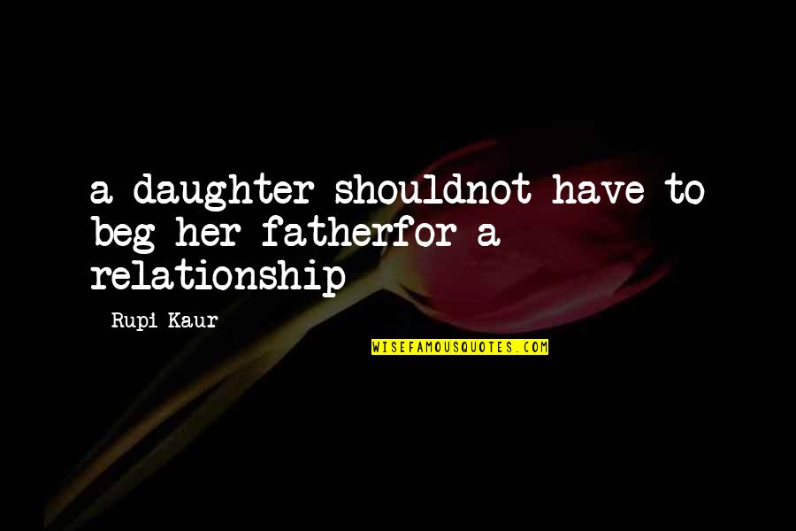 A Daughter Quotes By Rupi Kaur: a daughter shouldnot have to beg her fatherfor