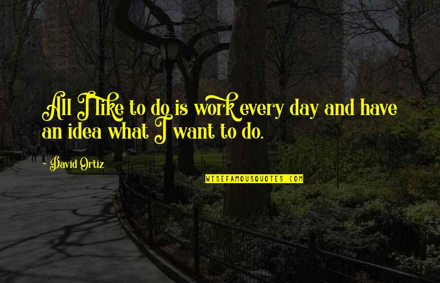 A Day Off Work Quotes By David Ortiz: All I like to do is work every